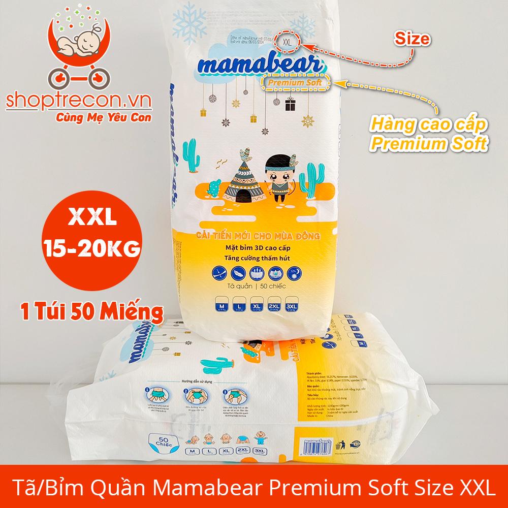 Tã/Bỉm Quần Mamabear Premium Soft Size XXL Số Lượng 100 Miếng Cho Bé 15 – 20 Kg