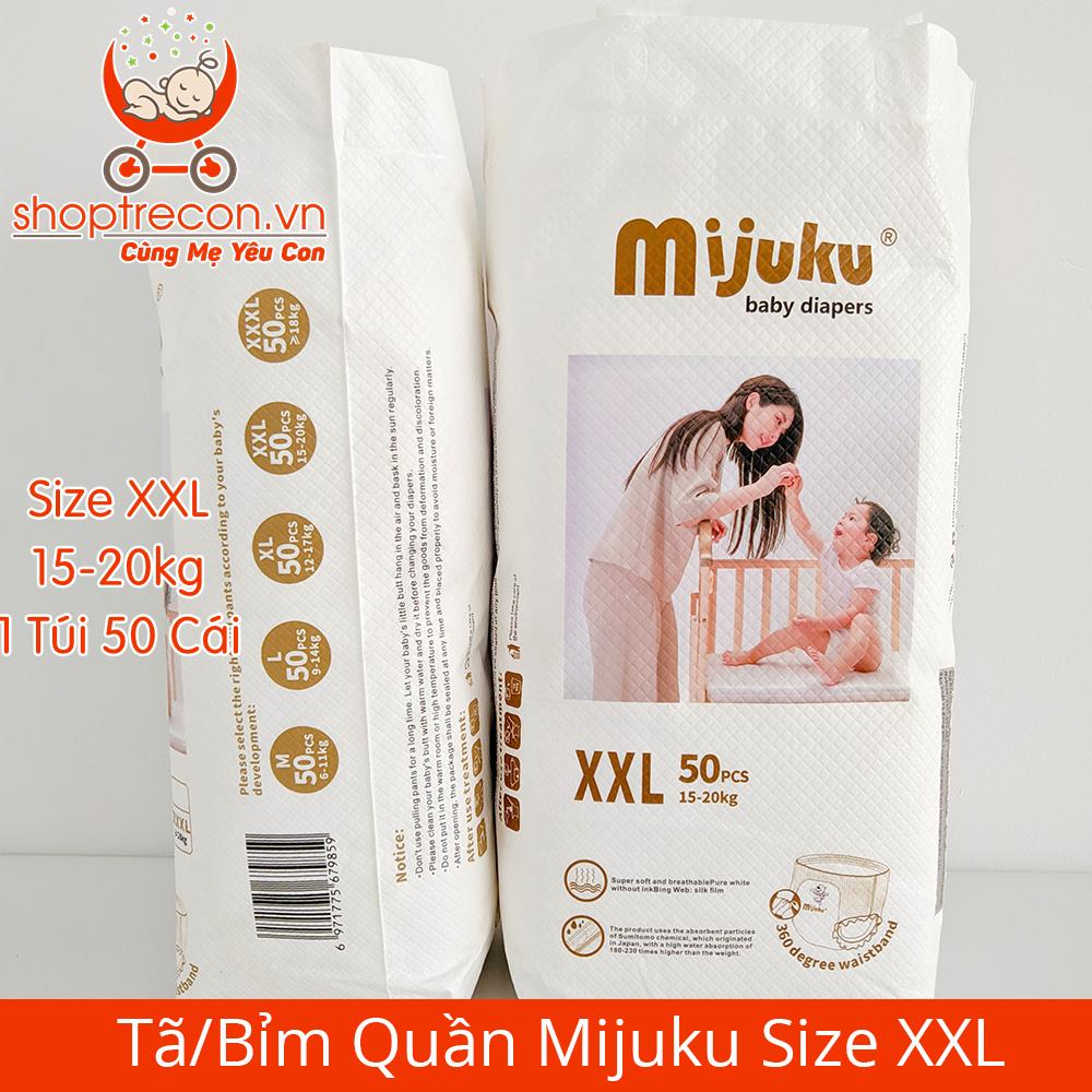 Tã/Bỉm Quần Mijuku Size XXL Số Lượng 100 Miếng Cho Bé 15 – 20 Kg