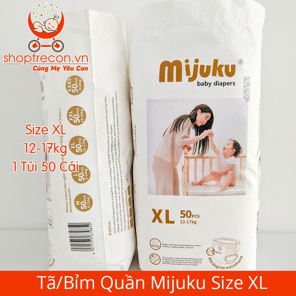 Tã/Bỉm Quần Mijuku Size XL Số Lượng 100 Miếng Cho Bé 12 – 17 Kg