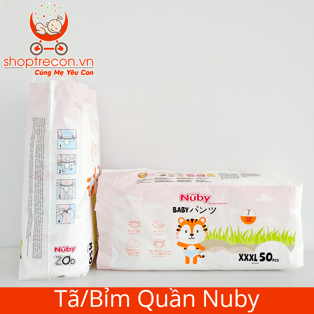 Tã/Bỉm Quần Nuby Size XXL Số Lượng 100 Miếng Cho Bé >15 Kg