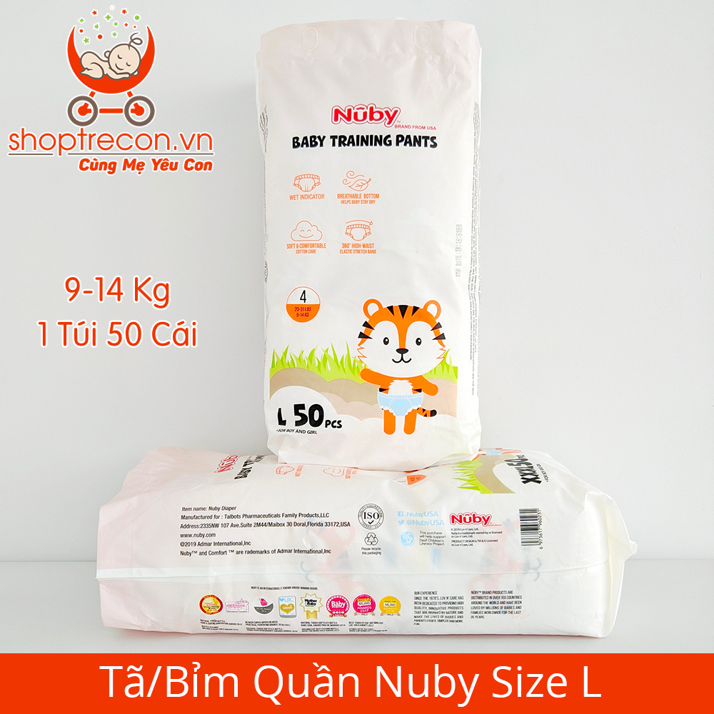 Tã/Bỉm Quần Nuby Size L Số Lượng 100 Miếng Cho Bé 9 – 14 Kg