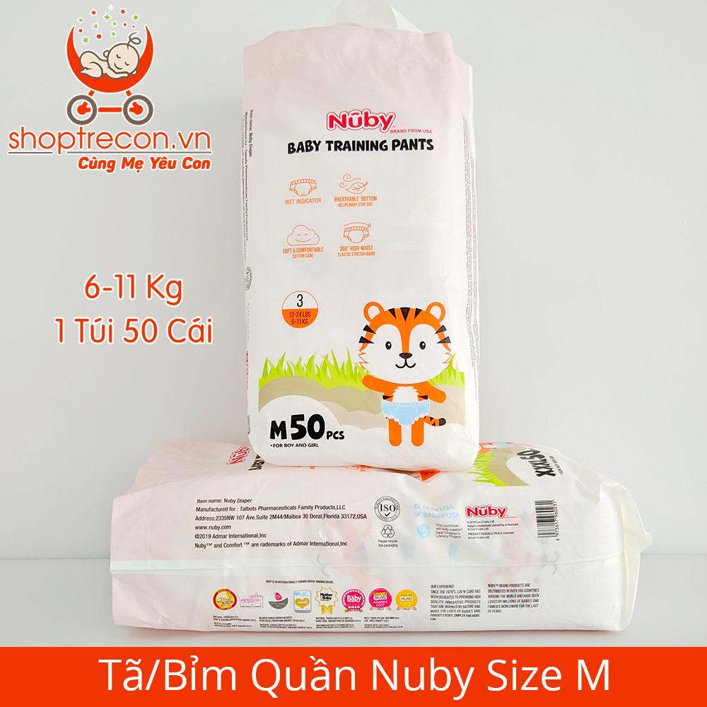 Tã/Bỉm Quần Nuby Size M Số Lượng 100 Miếng Cho Bé 6 – 11 Kg