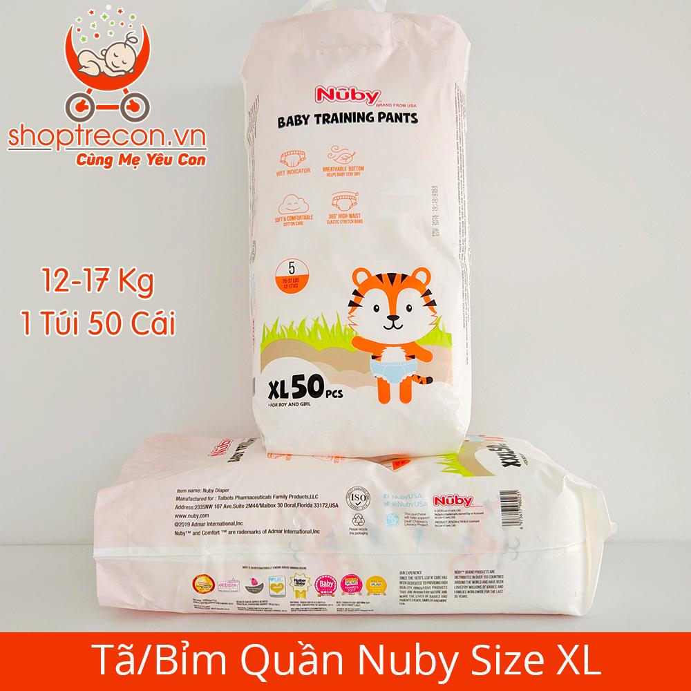 Tã/Bỉm Quần Nuby Size XL Số Lượng 100 Miếng Cho Bé 12 – 17 Kg