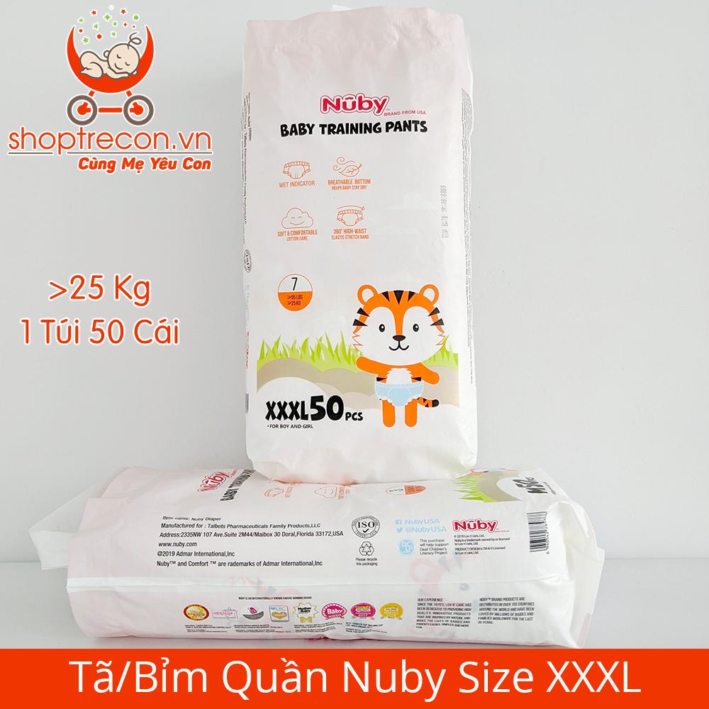 Tã/Bỉm Quần Nuby Size XXXL Số Lượng 100 Miếng Cho Bé >= 25 Kg