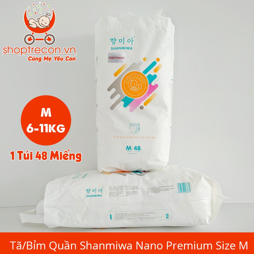 Tã/Bỉm Quần Shanmiwa Size M Số Lượng 98 Miếng Cho Bé 6 – 11 Kg