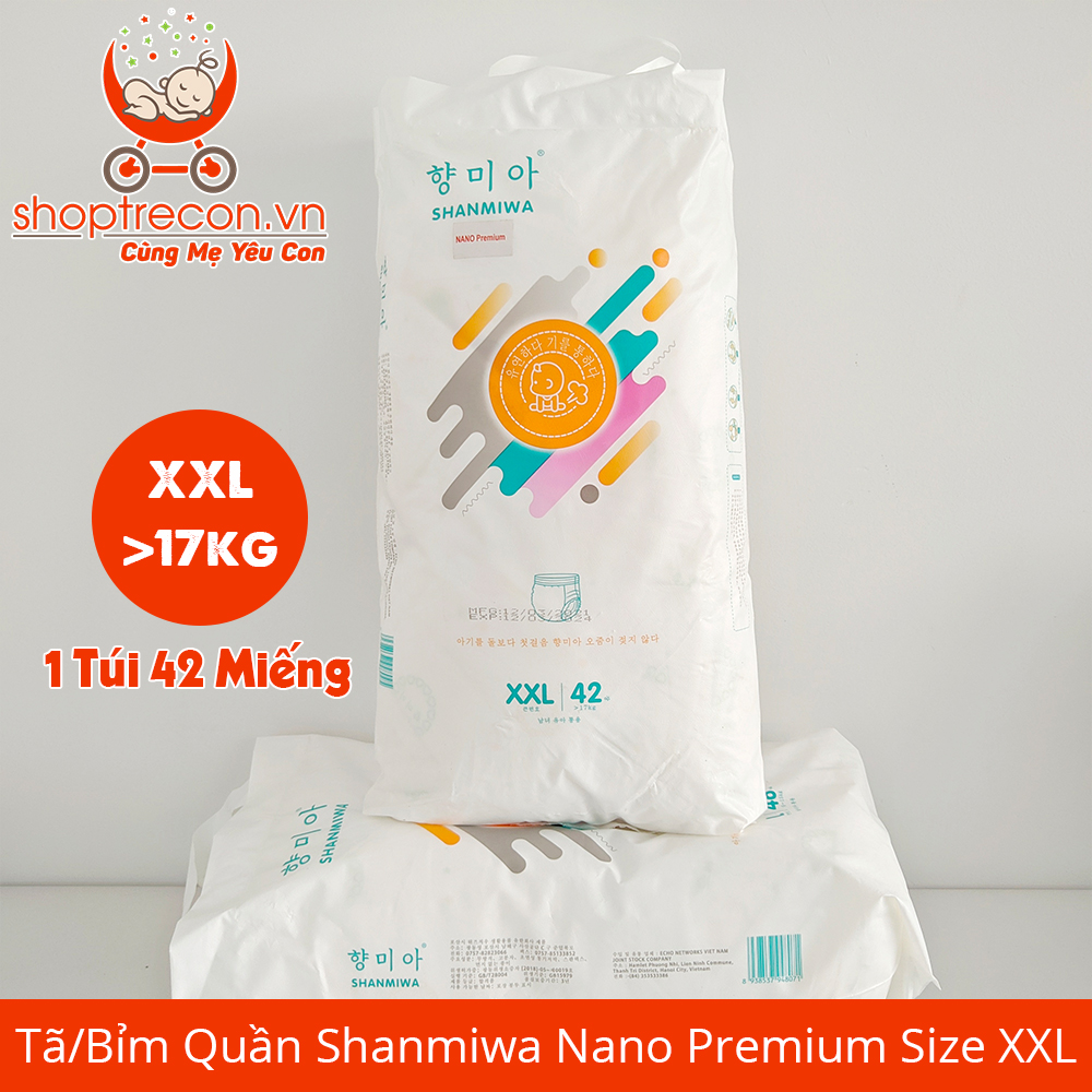Tã/Bỉm Quần Shanmiwa Nano Premium Size XXL Số Lượng 84 Miếng Cho Bé > 17 Kg