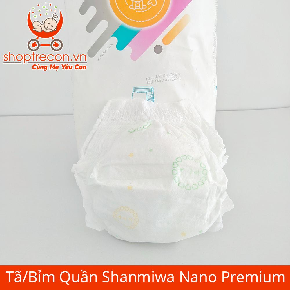 Tã/Bỉm Quần Shanmiwa Nano Premium Size L Số Lượng 92 Miếng Cho Bé 9 – 15 Kg