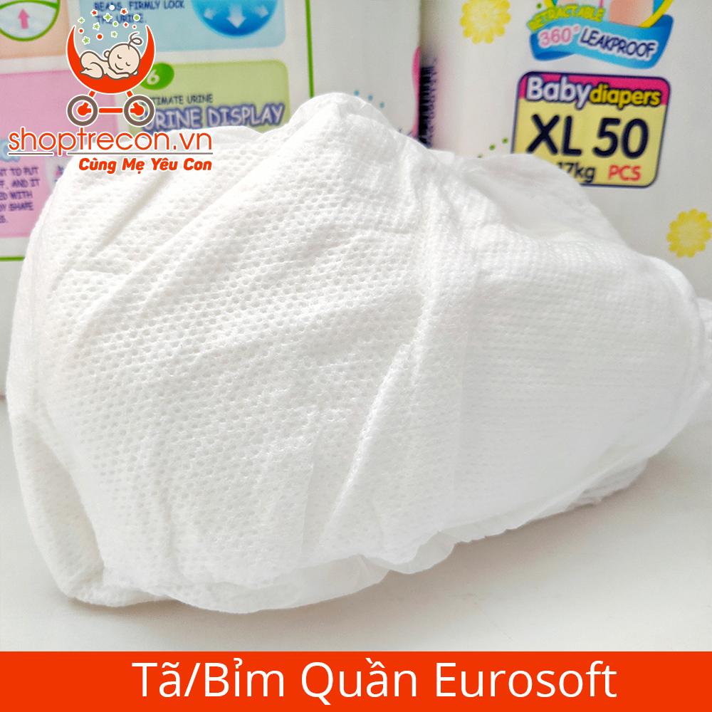 Tã/Bỉm Quần Eurosoft Size XXL Số Lượng 100 Miếng Cho Bé 15 - 25 Kg