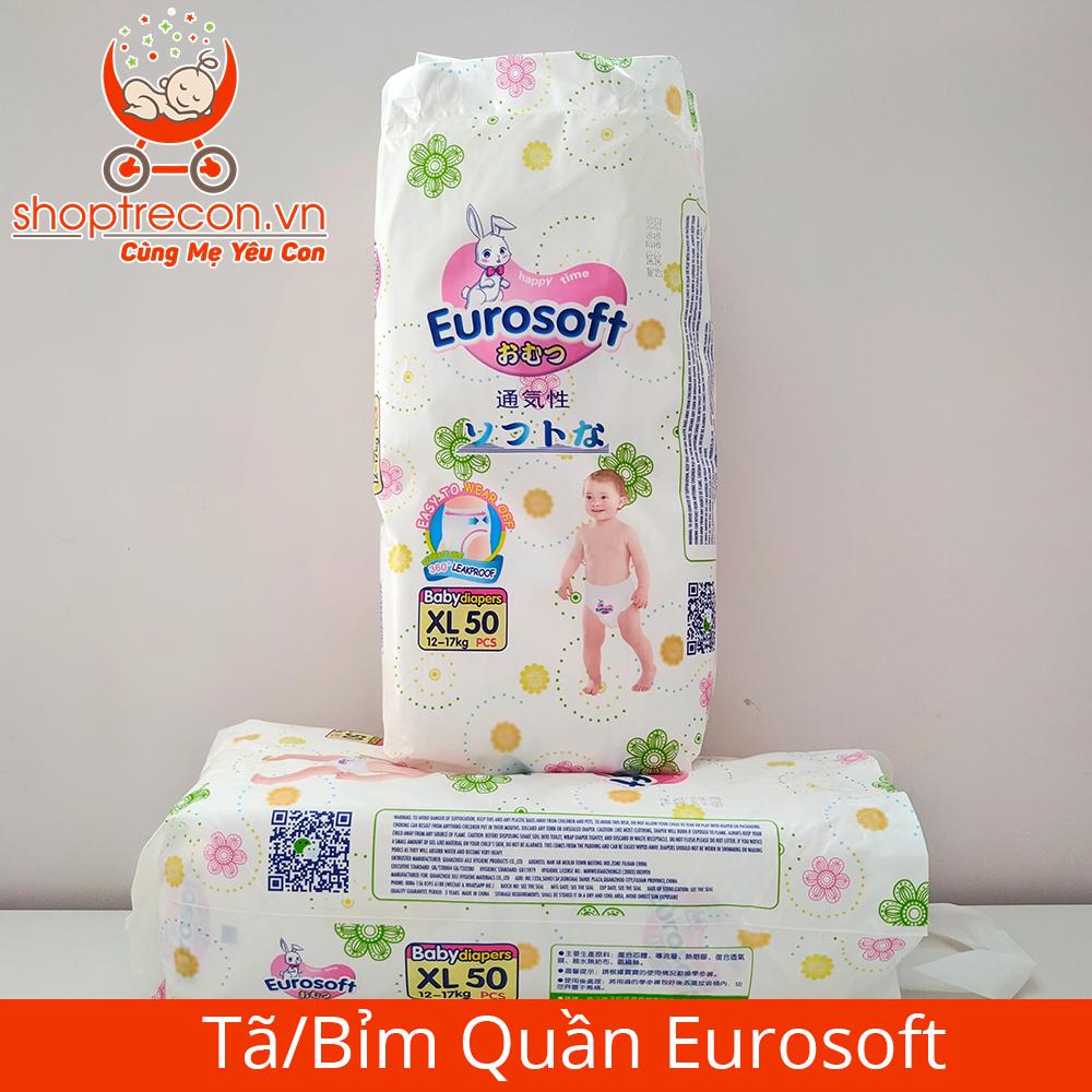 Tã/Bỉm Quần Eurosoft Size XL Số Lượng 100 Miếng Cho Bé 12 - 17 Kg