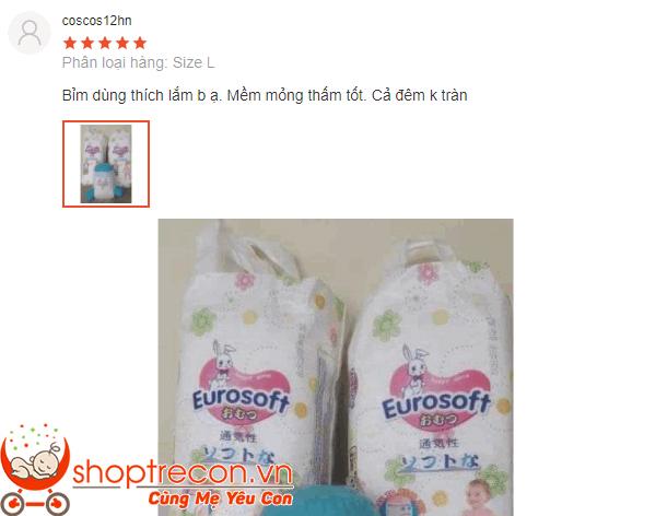 Phản hồi thực tế của các Mom về tã – bỉm Eurosoft ra sao?