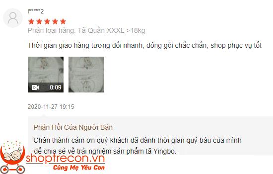 Phản hồi thực tế của các Mom về tã Yingbo ra sao?